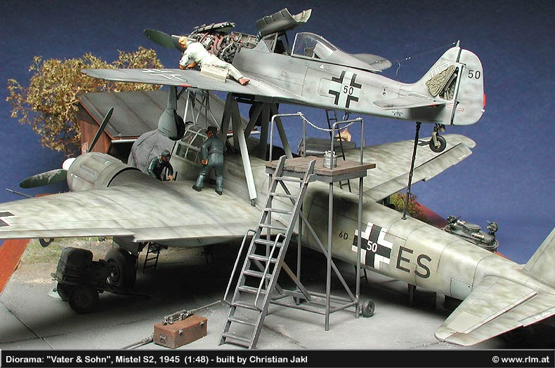 The Luftwaffe In Scale Diorama Mistel S2 Spring 1945 1 48
